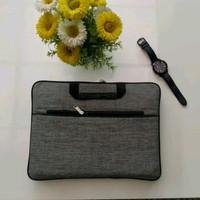 Tas Softcase laptop 14 inc Jinjing Premium - Abu-abu