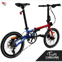 Sepeda Lipat Element Troy Chrome Edition 2020 Chromoly Red Blue
