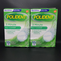 Polident Express 3 Minute Daily Cleanser 36 Tablets READY STOCK