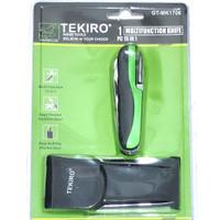 tekiro multifunction knife 15in1 pisau obeng gunting kikir can opener