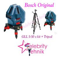GLL 5-50 X Kit + Tripod Set Laser Garis / Line Level Bosch