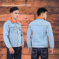 Jaket Jeans Pria Model Dilan Original INFICLO - Biru - M