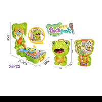 mainan edukasi frog gourmet / mainan kitchen pet backpack