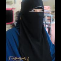 Cadar hidden eyes sifon silk arab