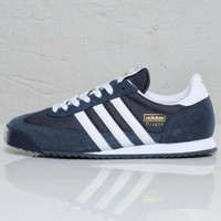 SEPATU CASUAL ADIDAS DRAGON NAVY WHITE ORIGINAL