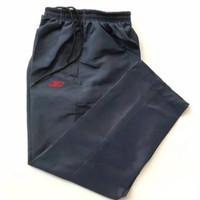 Celana training reebok bahan parasut navy unisex