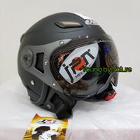 Helm JPN Kawai Momo Matt Black Doff Kaca Pilot