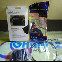 Bundling CONVERTER Audio Optic to Analog + Kabel optik + jack 3.5 /RCA