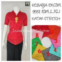 9551 Kebaya Encim Katun Stretch Lengan 3/4 Siku Kebaya Bordir Supplier