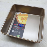 suncity deep square 9,5 inch baking pan / loyang kue tanpa sambungan