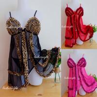 Sexy Helieta Sleepwear-Nightdress Lingerie -Laces + Gstring