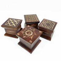 Box Kotak Cincin Perhiasan Pernak Pernik Batu Akik Kayu Jati Ukir