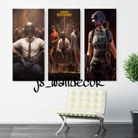 hiasan dinding wall decor rumah poster pubg 20x40