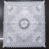 Taplak Meja Sudut Nakas Putih Polos Persegi 50x50cm Anti Slip Anti Air