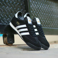SEPATU CASUAL ADIDAS DRAGON BLACK WHITE ORIGINAL