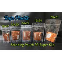 Standing Pouch PP Super Zipper 10x17 / Standing Pouch Ziplock 10x17 cm