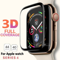 Pelindung Layar Tempered Glass 3D Full Cover Apple Watch