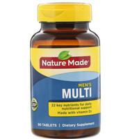 nature made men's men mens multi isi 90 vitamin pria laki laki