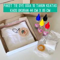 Paket DIY Baju Tie Dye warna Unicorn ala Zara Cute - ukuran Remaja