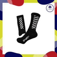 kaos kaki motif premium. kaos kaki offwhite hitam. kaos kaki stripe.