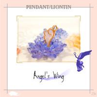 Pendant Charm Liontin Kalung resin Sayap malaikat kecil elegan imut