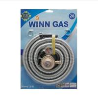 Winn Gas , win Gas , selang paket + regulator, kepala w 28 Meter