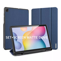 Samsung Tab S6 Lite Smartcase FULLSET+Screen Matte Dove Original-Biru