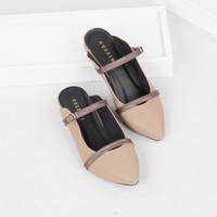 Guzzini FB 188 Moca - Sandal Sepatu Mules Flat Wanita