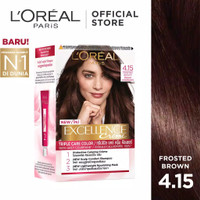 L'Oreal Paris Excellence Creme Hair Color - 4.15 Frosted Brown [Pewarn