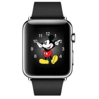 Jam Apple watch 38mm 316 L stainless sapphire strap leather black CB