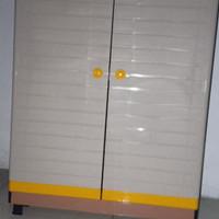 lemari pakaian / baju 2 susun plastik mini CLUB