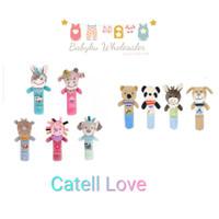 Mainan boneka genggam bayi bunyi / Baby rattle stick / Mainan edukasi