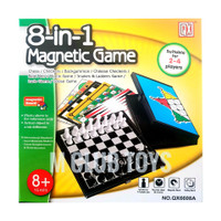 8in1 magnetic game chess checkers backgammon snake ladders ludo goose