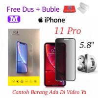 MAXFEEL Tempered Glass 3D AntiSpy Anti Spy Iphone 11 Pro Premium Glass