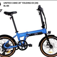 Sepeda Lipat Electric / Sepeda Lipat Ebike United EX 20.Sepeda Listrik