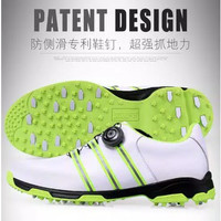 GM Sepatu Golf Bahan Kulit Breathable Anti Slip