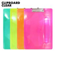 SALE Papan jalan / papan ujian / Clipboard bening transparan uk A4