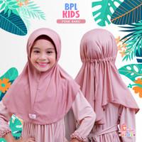 Jilbab bergo serut BPL kids Miulan kerudung anak Pink Baru 2-6TH