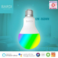 BARDI Smart 12W RGBWW LIGHT BULB WiFi Wireless IoT For Home Automation