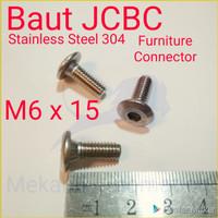 Baut JCBC M6 x 15 SUS304