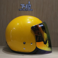 Helm Cargloss retro yellow visor snail GOLD