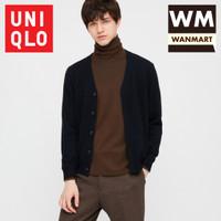 UNIQLO Kaos Pria Soft Touch Turtle Neck Lengan Panjang Dark Brown