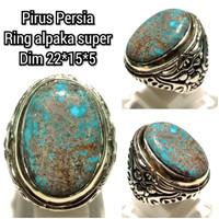 Cincin batu akik permata pirus persia 14105