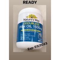 Natures way Fish Oil 1500mg ODOURLESS 200 capsules Made in Australia