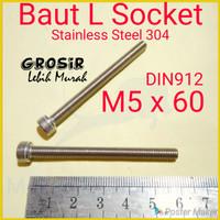 Baut L M5 x 60 SUS304