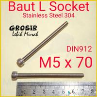 Baut L M5 x 70 SUS304