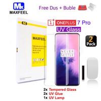 MAXFEEL Tempered glass 3D UV Full Glue Oneplus 7 Pro Like Dome Glass