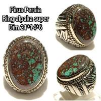 Cincin natural batu akik permata pirus persia -15117