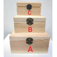 Kotak Kayu Antik Cincin Kalung Gelang Perhiasan Wood Jewelry Gift Box
