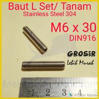 Baut L Tanam M6 x 30 SUS304